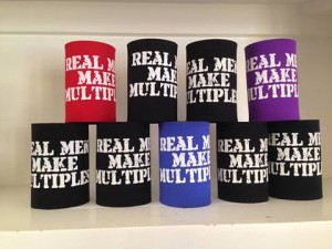 """Real Men Make Multiples"" Stubby Holders"